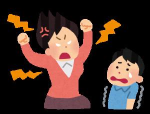怒る母親 - スマホでの視力低下から回復